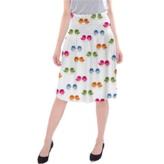 Pattern Birds Cute Design Nature Midi Beach Skirt