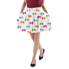 Pattern Birds Cute Design Nature A-Line Pocket Skirt