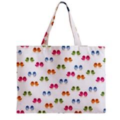 Pattern Birds Cute Design Nature Medium Zipper Tote Bag