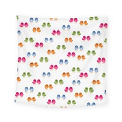 Pattern Birds Cute Design Nature Square Tapestry (small)