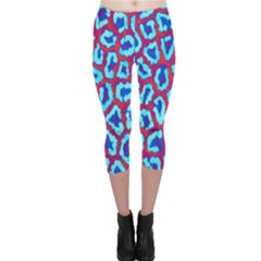 Animal Tissue Capri Leggings