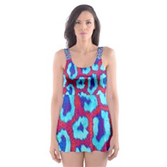 Animal Tissue Skater Dress Swimsuit
