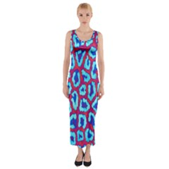 Animal Tissue Fitted Maxi Dress
