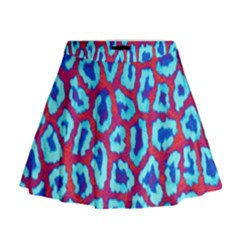 Animal Tissue Mini Flare Skirt
