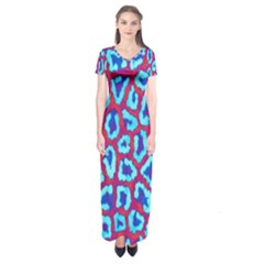 Animal Tissue Short Sleeve Maxi Dress