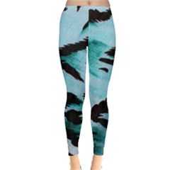 Animal Cruelty Pattern Leggings