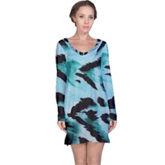 Animal Cruelty Pattern Long Sleeve Nightdress