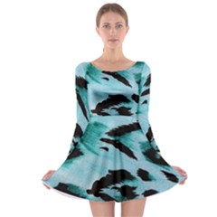 Animal Cruelty Pattern Long Sleeve Skater Dress