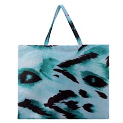 Animal Cruelty Pattern Zipper Large Tote Bag