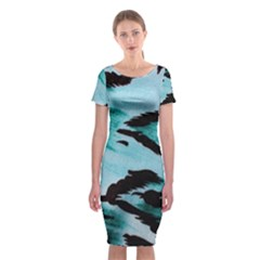 Animal Cruelty Pattern Classic Short Sleeve Midi Dress