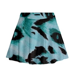 Animal Cruelty Pattern Mini Flare Skirt