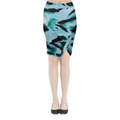 Animal Cruelty Pattern Midi Wrap Pencil Skirt