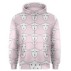 Sheep Wallpaper Pattern Pink Men s Zipper Hoodie