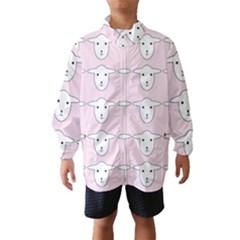 Sheep Wallpaper Pattern Pink Wind Breaker (kids)