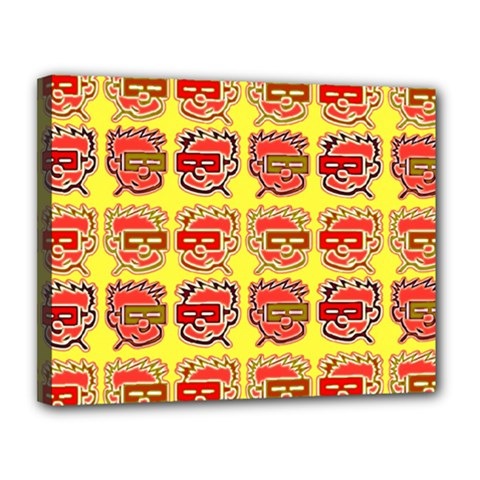 Funny Faces Canvas 14  x 11