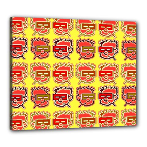 Funny Faces Canvas 24  X 20