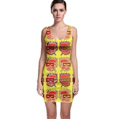 Funny Faces Sleeveless Bodycon Dress