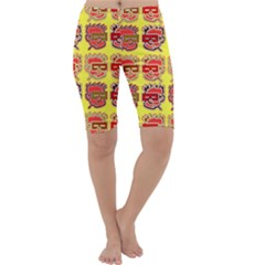 Funny Faces Cropped Leggings