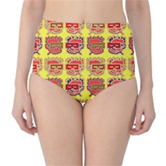 Funny Faces High-Waist Bikini Bottoms