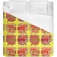 Funny Faces Duvet Cover (king Size)