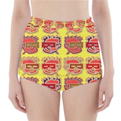 Funny Faces High Waisted Bikini Bottoms