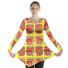 Funny Faces Long Sleeve Tunic