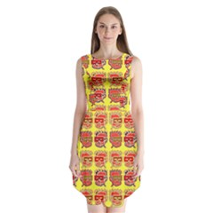 Funny Faces Sleeveless Chiffon Dress
