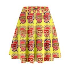 Funny Faces High Waist Skirt