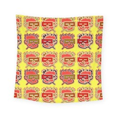 Funny Faces Square Tapestry (small)