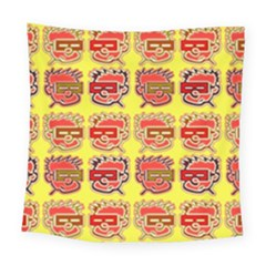 Funny Faces Square Tapestry (large)