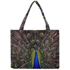 Bird Peacock Display Full Elegant Plumage Mini Tote Bag