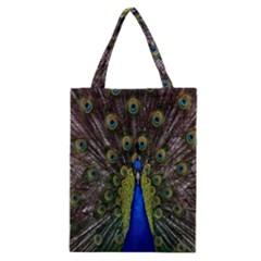 Bird Peacock Display Full Elegant Plumage Classic Tote Bag