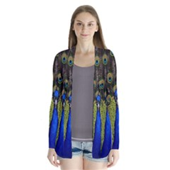 Bird Peacock Display Full Elegant Plumage Cardigans