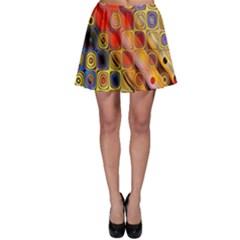 Background Texture Pattern Skater Skirt