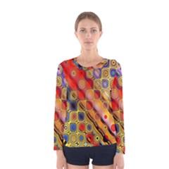 Background Texture Pattern Women s Long Sleeve Tee