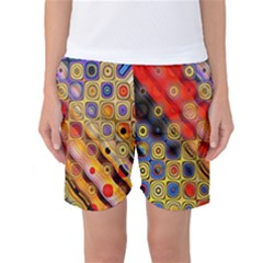 Background Texture Pattern Women s Basketball Shorts