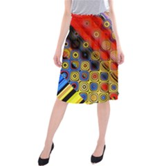Background Texture Pattern Midi Beach Skirt