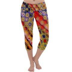 Background Texture Pattern Capri Yoga Leggings