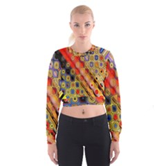 Background Texture Pattern Women s Cropped Sweatshirt