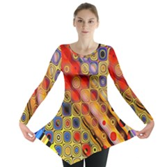 Background Texture Pattern Long Sleeve Tunic