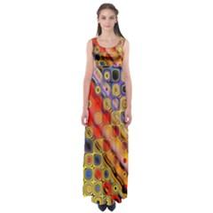 Background Texture Pattern Empire Waist Maxi Dress