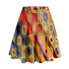 Background Texture Pattern High Waist Skirt