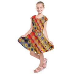 Background Texture Pattern Kids  Short Sleeve Dress