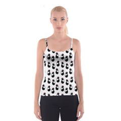 Cat Seamless Animal Pattern Spaghetti Strap Top