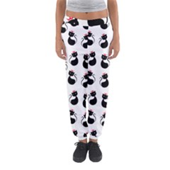 Cat Seamless Animal Pattern Women s Jogger Sweatpants