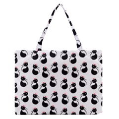 Cat Seamless Animal Pattern Medium Zipper Tote Bag