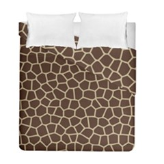 Leather Giraffe Skin Animals Brown Duvet Cover Double Side (full/ Double Size)