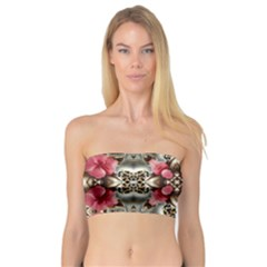 Flowers Fabric Bandeau Top