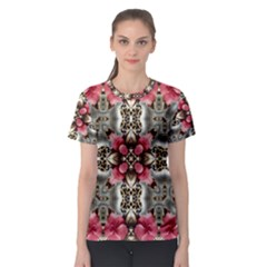 Flowers Fabric Women s Sport Mesh Tee