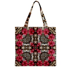 Flowers Fabric Grocery Tote Bag